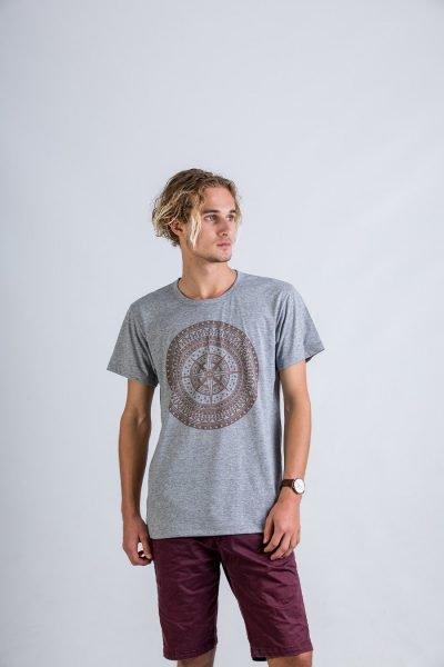 Compass mandala :: Grey Threaded.   Sizes Avail: XS, S, M, XL, XXL
