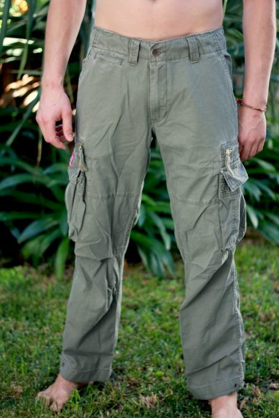 Mens Molecule Long Pants :: Green