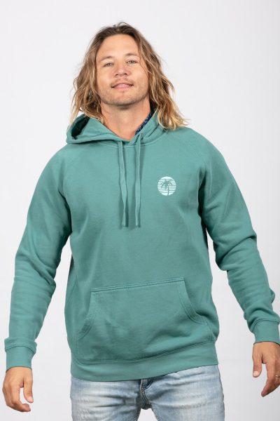 Faded green hoodie